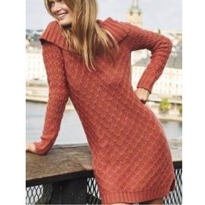 Anthropologie Sparrow Rust Cowled Sweater Dress!